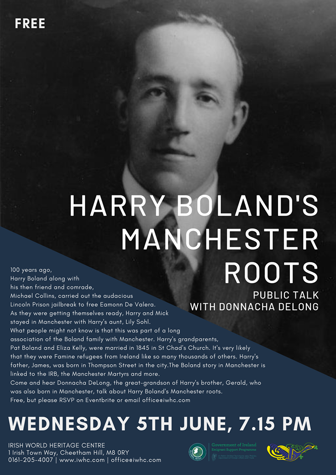 Harry Boland's Manchester roots flyer